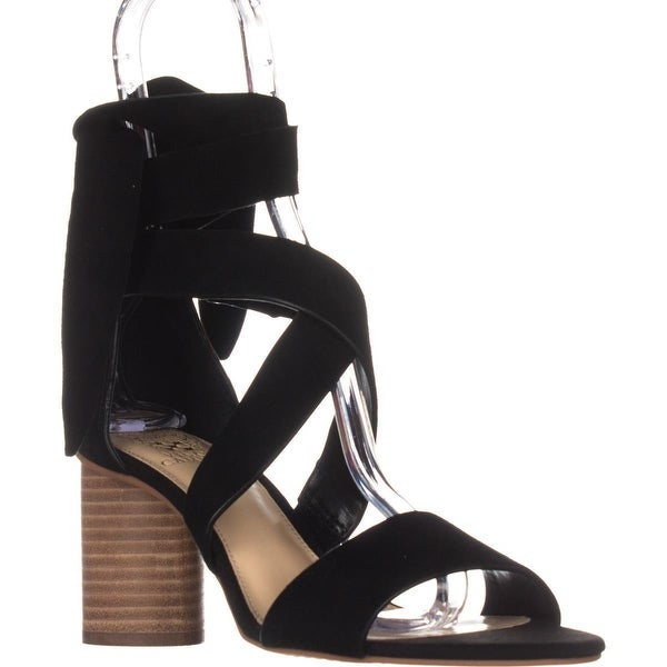 Vince Camuto Jeneve Strappy Dress Sandals, Black Suede