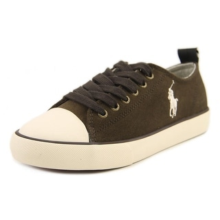 Polo Ralph Lauren Falmuth Low Youth Round Toe Canvas Brown Sneakers