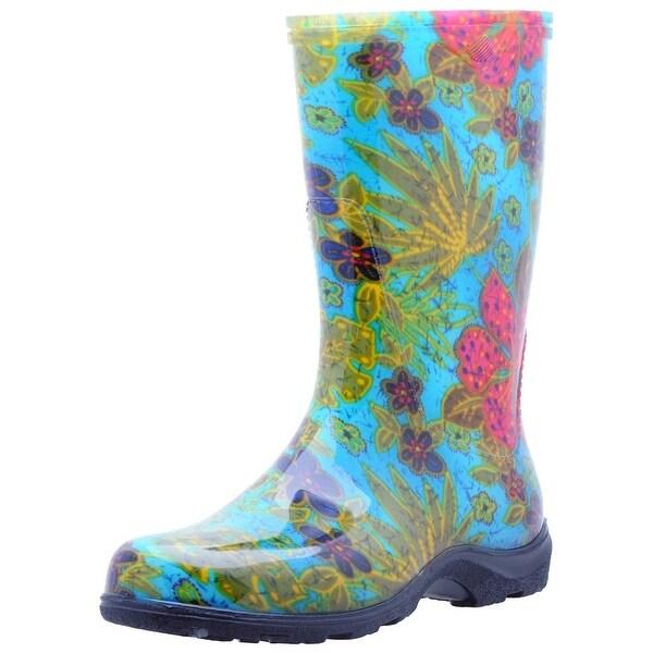 Sloggers 5002BL08 Women's Rain And Garden Boots, Midsummer Blue, Size 8