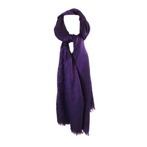 Style & Co. Purple Animal-Print Wrap OS