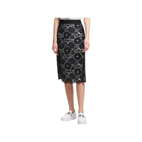 DKNY Womens Pencil Skirt Lace Suit Separate