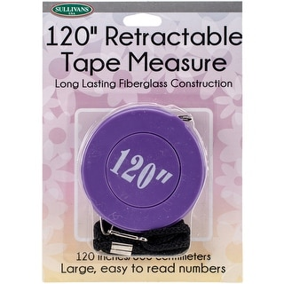 "Retractable Tape Measure 120""-Purple"