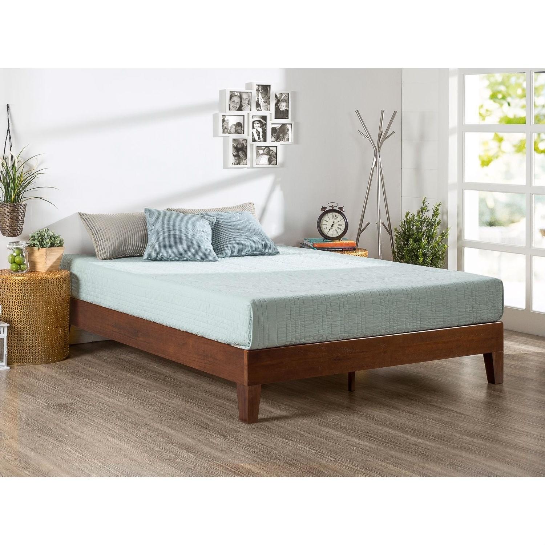 Shop Queen Size Modern Low Profile Solid Wood Platform Bed Frame