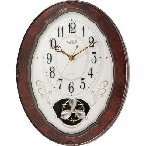 Rhythm 4MJ400WD23 Caprice Wall Clock - Brown