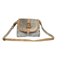 89d05f9d97e6 Shop The Gypsy Upcycled Canvas and Genuine Hair-On Cowhide Leather ...