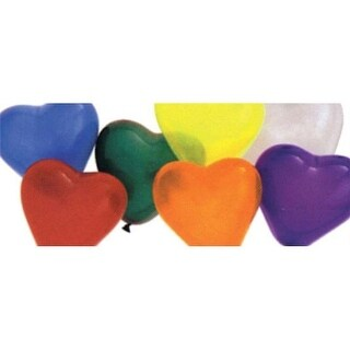 Morris Costumes PA34AS BALLOON 6IN HEART QUALATEX AST