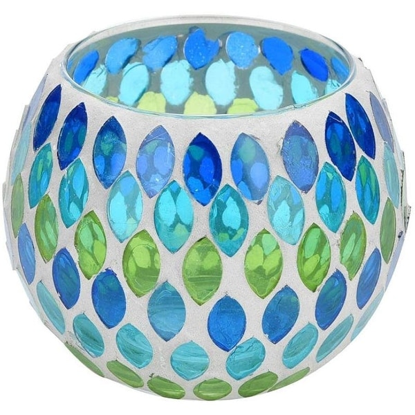 Mosaic Glass Teardrops Candle Holder. Opens flyout.