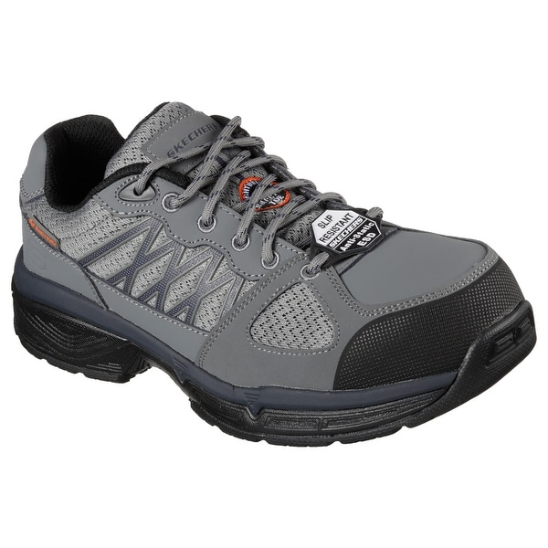 Skechers 77083 GYBK Men's CONROE-SEARCY ESD Work