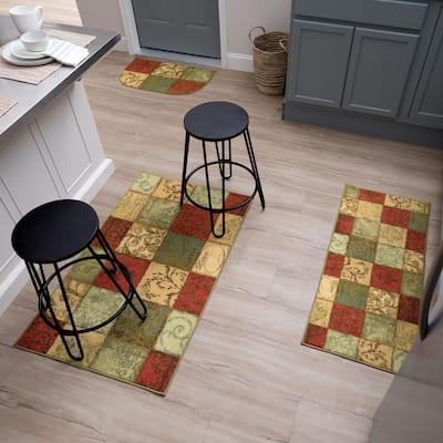 Mohawk Home Floral Tile Patchwork Accent Area Rug