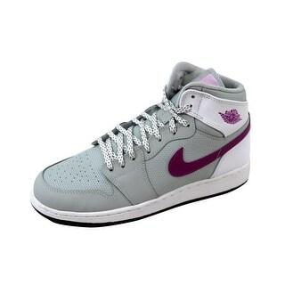 Nike Grade-School Air Jordan 1 Retro High GG Grey Mist/Fuchsia Flash-White-Black 332148-018 Size 7Y