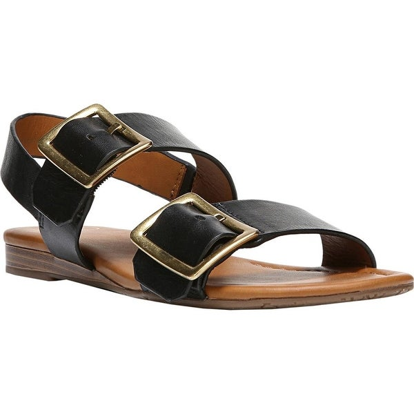 Franco Sarto Womens Gannon Leather Open Toe Casual Slingback Sandals - 6