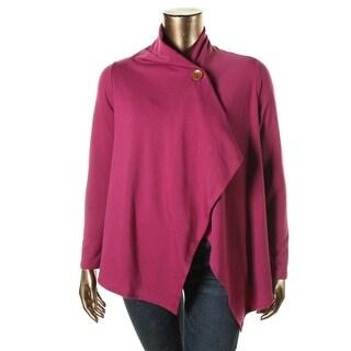 Bobeau Womens Petites Fleece Long Sleeves Jacket - pm