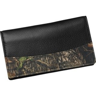 Legendary Whitetails Men's Mossy Oak Leather Camo Checkbook Cover - One Size