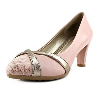 Easy Spirit Nerissa Women W Round Toe Leather Pink Heels
