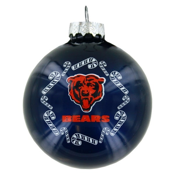 Chicago Bears Candy Cane Round Ornament