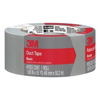 3M Duct Tape, 1.88 Inches x 55 Yards, Gray