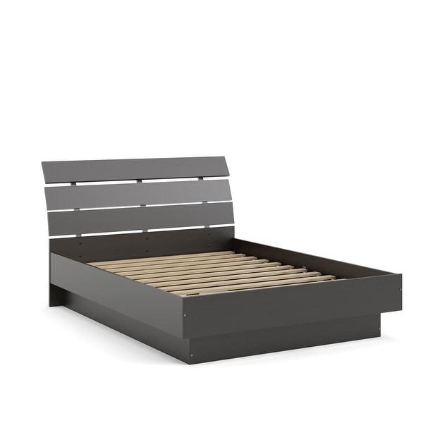Porch & Den McKellingon Contemporary Wood Grain Platform Bed. Opens flyout.