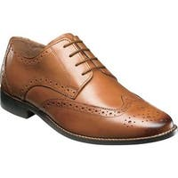 Florsheim Men's Montinaro Wingtip Oxford Saddle Tan Smooth Leather