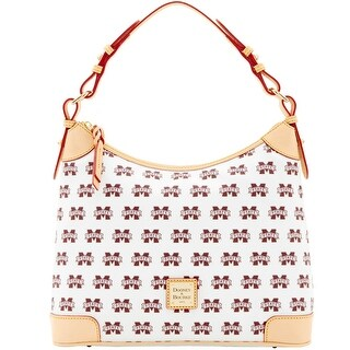 Dooney & Bourke NCAA Mississippi State Hobo (Introduced by Dooney & Bourke at $218 in Jan 2016) - White