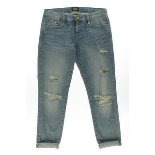 D-ID Womens Denim Destroyed Boyfriend Jeans