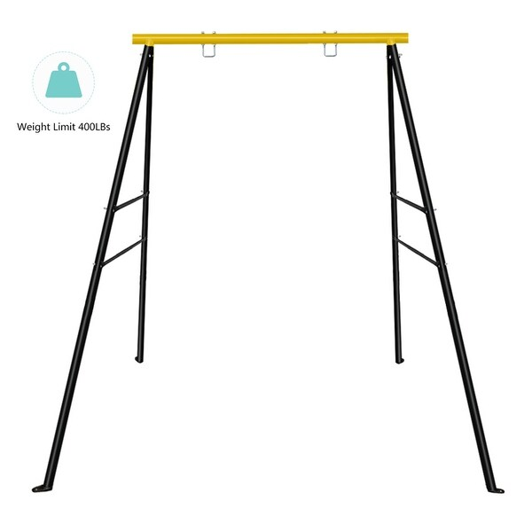 Upgraded All-Steel All Weather A-Frame Swing Frame Metal Swing Stand w/ Ground Stakes. Opens flyout.