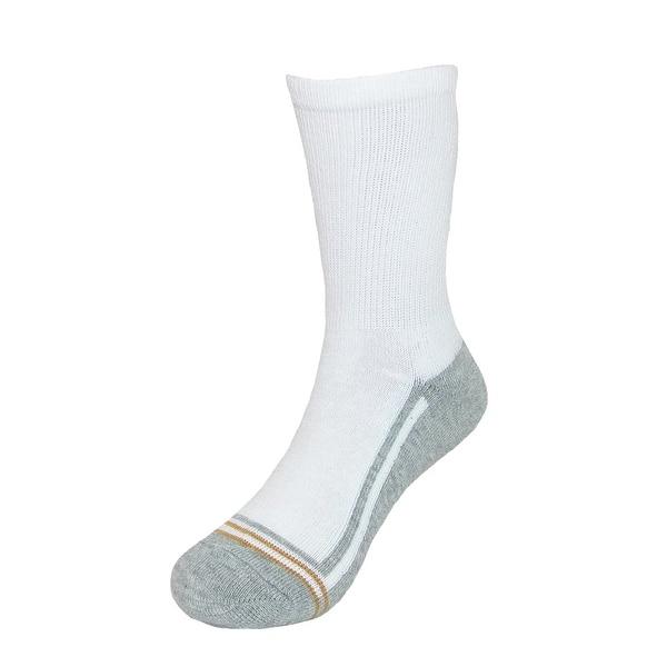 Gold Toe Boys' Athletic Crew Socks (Pack of 6) - Overstock - 14278114