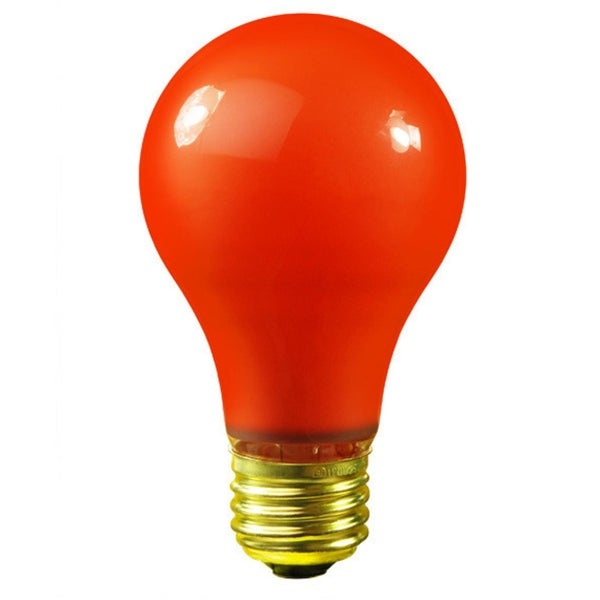 Pack of 25 Opaque Orange E26 Base Replacement A19 Light Bulbs - 25 Watts