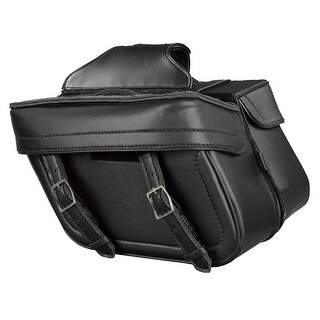 Leather Look Motorcycle Saddle Bag Set 14.5X9.5X6X19.5