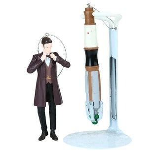 Doctor Who & Sonic Screwdriver Two Ornament Set