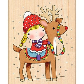 """Penny Black Mounted Rubber Stamp 3.25""""X4""""-Reindeer Games"""