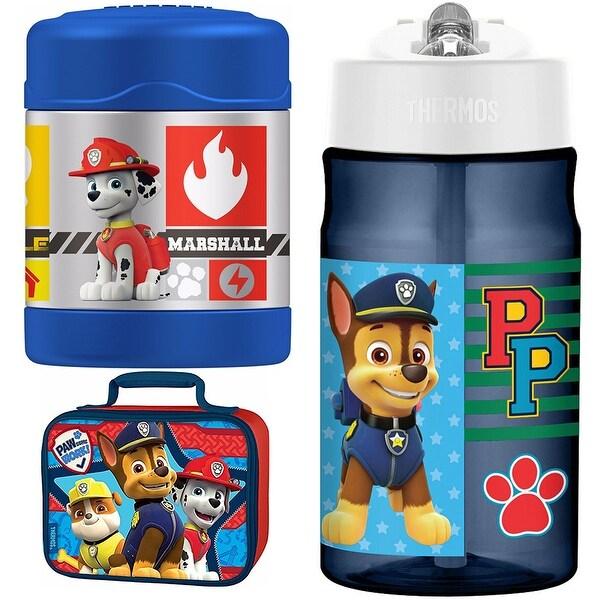 Thermos Funtainer 10 oz Food Jar, 12 oz Hydration Bottle Lunch Kit - Paw Patrol - Blue