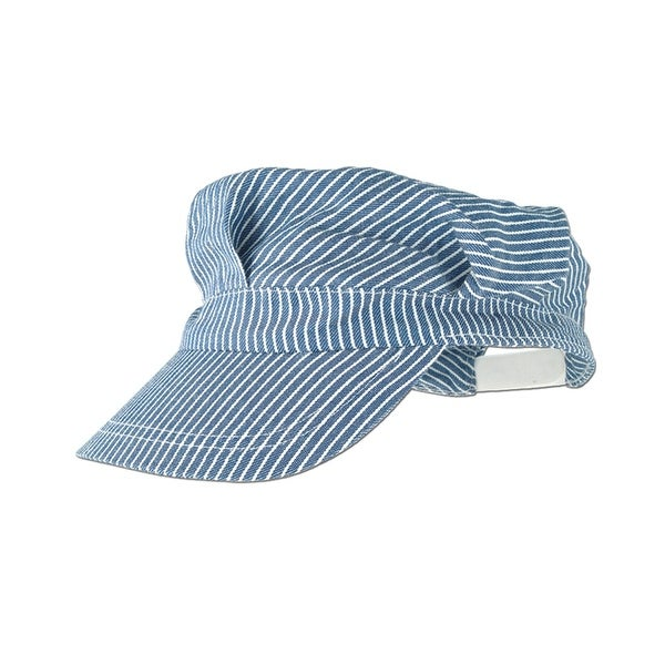 52299b7fc104a Shop Club Pack of 12 Cute Blue and White Striped Train Engineer Costume Party  Hats - N/A - Free Shipping Today - Overstock - 16659835