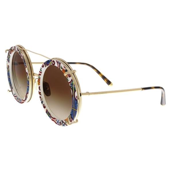 d21c1ddb5b4 Dolce  amp  Gabbana DG2198 02 13 Multicolor Round Sunglasses - Multi ...