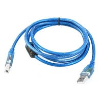 Scanner Cord USB 2.0 A Male to B Male High Speed Printer Cable Blue1.5M