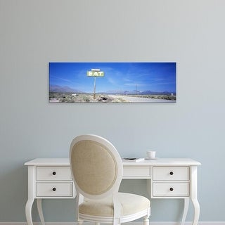 Easy Art Prints Panoramic Images's 'Old Diner Sign, Highway 395, California, USA' Premium Canvas Art