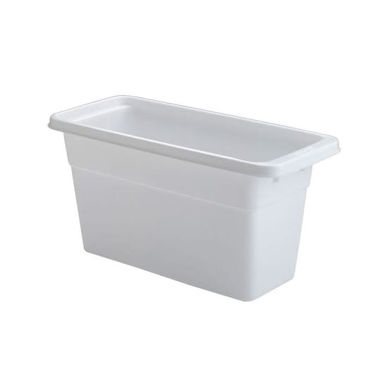 "Rubbermaid 2862-RD-WHT Ice Cube Bin, 12.1"" x 5.5"" x 6.12"", White"