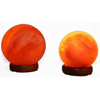 Accentuations by 5 & 7 in. Sphere Shaped Himalayan Salt Lamp 1.5 &
