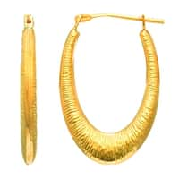 Mcs Jewelry Inc  14 KARAT YELLOW GOLD CHILDREN'S SMALL  OVAL MESH HOOP EARRINGS