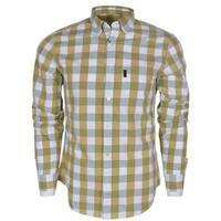 Burberry Brit Men's Fred Yellow Nova Check Cotton Long Sleeve Shirt XL