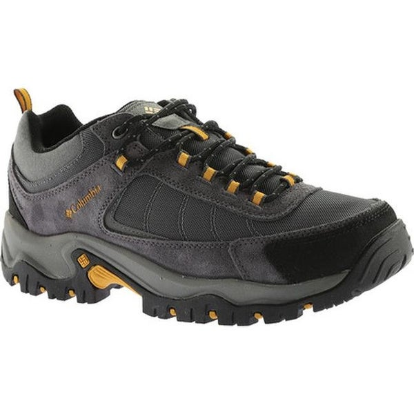 258af854f087 Columbia Men  x27 s Granite Ridge Waterproof Hiking Shoe Dark Grey Golden  Yellow