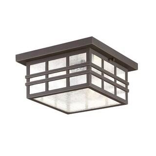 "Park Harbor PHEL3304 Ambler 2 Light 12"" Wide Outdoor Flush Mount Square Ceiling"
