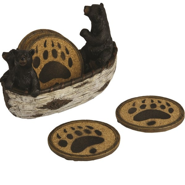 Shop River S Edge New Bears In Boat Coaster Set 2040 Free Shipping