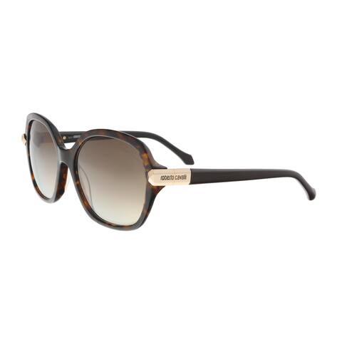 3b5cd837684e5 Roberto Cavalli RC903S 52G MENKIB Dark Havana Round Sunglasses - 58-17-135