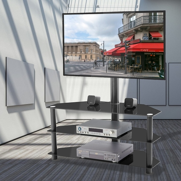 Multi-function TV Stand Height Adjustable Bracket Swivel. Opens flyout.