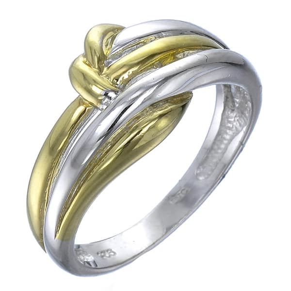 Silver knot ring gold plated
