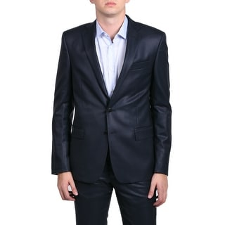 Versace Collection Men's Solid Two-piece Wool Suit Navy