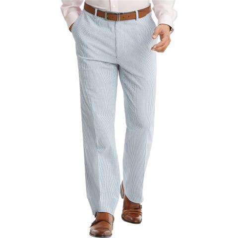 Tommy Hilfiger Mens THFlex Stretch Dress Pants Slacks, Blue, 32W x 34L