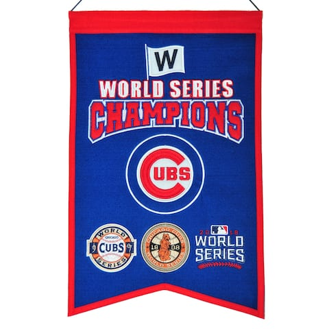 "Chicago Cubs World Series Champions Cooperstown Collection 22"" x 14"" Banner"