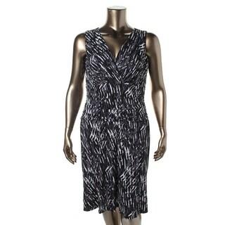 Nine West Womens Surplice Sleeveless Wear to Work Dress