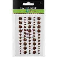 Eyelet Outlet Adhesive-Back Enamel Dot (60 Pack), Brown